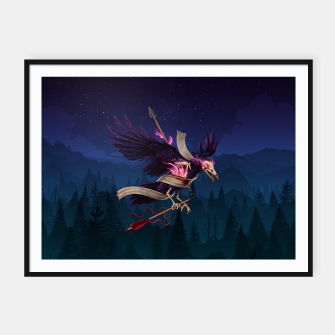 Thumbnail image of The Undead Crow Framed poster horizontal, Live Heroes
