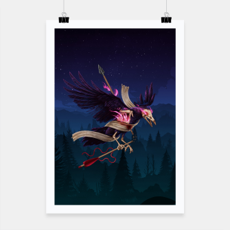 Thumbnail image of The Undead Crow Poster, Live Heroes