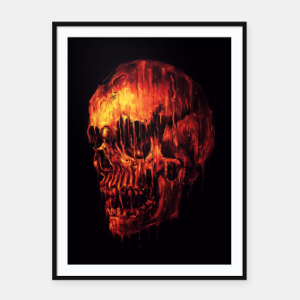Thumbnail image of Melting Skull Framed poster, Live Heroes