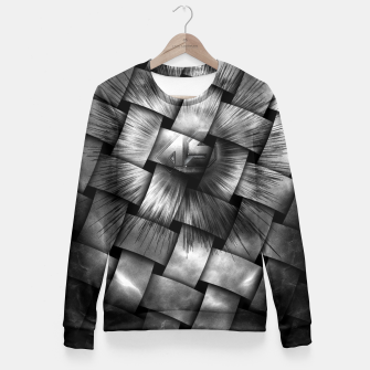 Miniatur A-Synchronous Ethereal Clouds Weave Fitted Waist Sweater, Live Heroes
