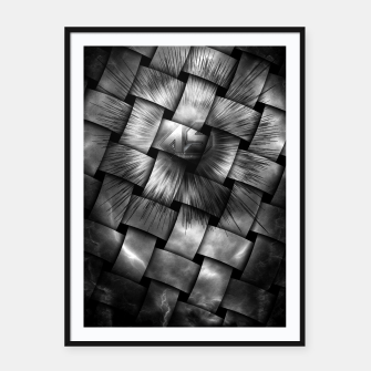 Thumbnail image of A-Synchronous Ethereal Clouds Weave Framed poster, Live Heroes