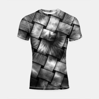 Thumbnail image of A-Synchronous Ethereal Clouds Weave Shortsleeve Rashguard, Live Heroes