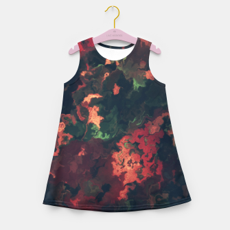 Fall Abstract Girl's Summer Dress obraz miniatury