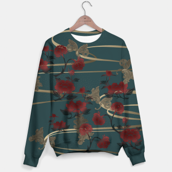 Miniatur Japanesque peony and Baroque decoration Sweater, Live Heroes