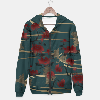 Miniature de image de Japanesque peony and Baroque decoration Hoodie, Live Heroes