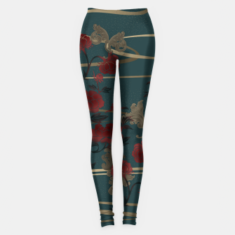 Thumbnail image of Japanesque peony and Baroque decoration Leggings, Live Heroes