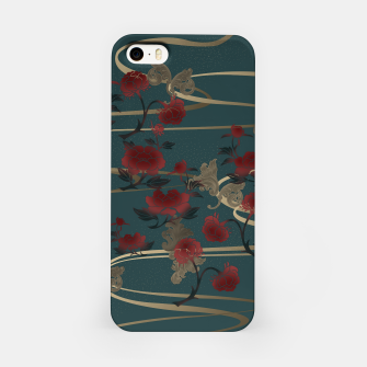 Miniatur Japanesque peony and Baroque decoration iPhone Case, Live Heroes