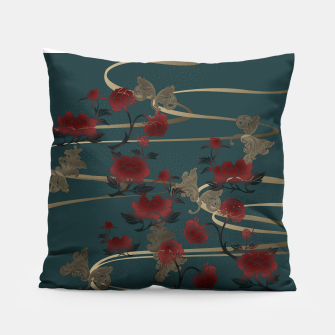 Miniatur Japanesque peony and Baroque decoration Pillow, Live Heroes