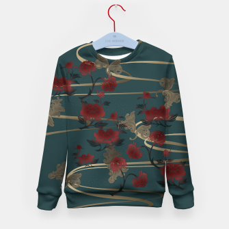 Miniatur Japanesque peony and Baroque decoration Kid's Sweater, Live Heroes