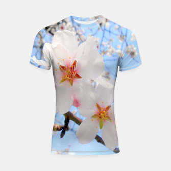 Thumbnail image of Blossoms Close-up Shortsleeve Rashguard, Live Heroes