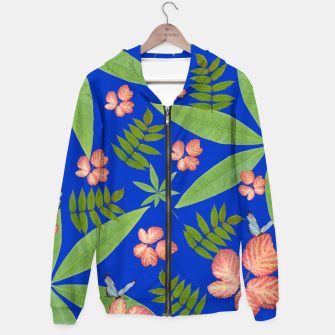 Miniature de image de Leaves on Blue Hoodie, Live Heroes
