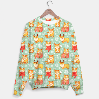 Merry dog ​​Corgi Sweater Bild der Miniatur