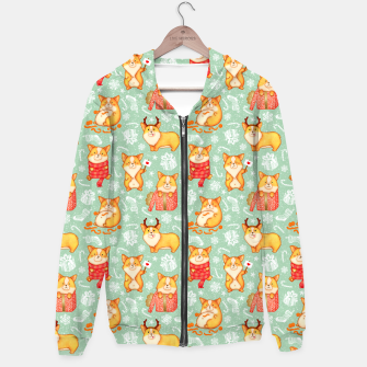 Thumbnail image of  Merry dog ​​Corgi Hoodie, Live Heroes