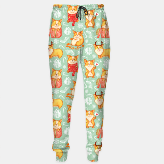 Thumbnail image of  Merry dog ​​Corgi Sweatpants, Live Heroes