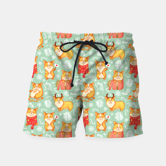 Merry dog ​​Corgi Swim Shorts Bild der Miniatur