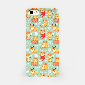 Merry dog ​​Corgi iPhone Case Bild der Miniatur