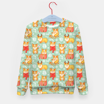 Merry dog ​​Corgi Kid's Sweater Bild der Miniatur
