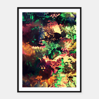 Thumbnail image of Neon Pieces Framed poster, Live Heroes