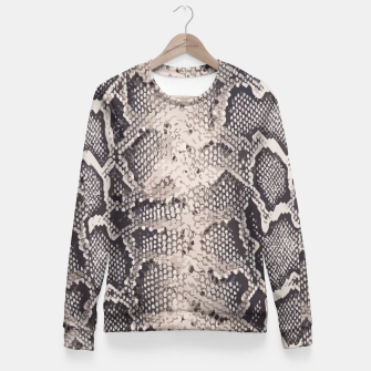 Miniatur Python pattern Fitted Waist Sweater, Live Heroes