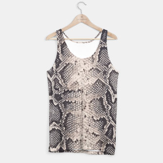 Miniatur Python pattern Tank Top, Live Heroes