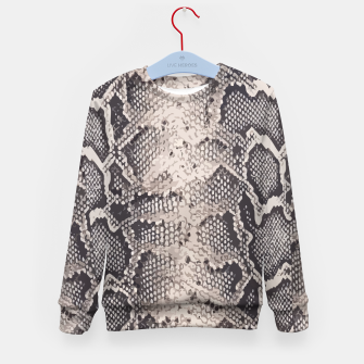 Miniatur Python pattern Kid's Sweater, Live Heroes