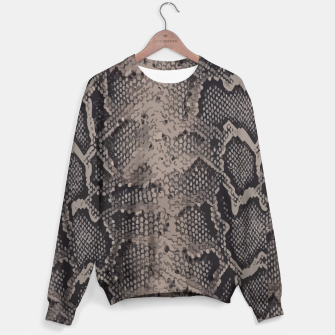 Miniatur Python brown Sweater, Live Heroes