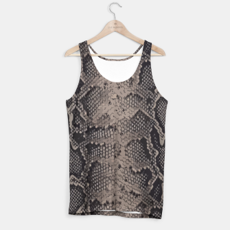 Miniatur Python brown Tank Top, Live Heroes