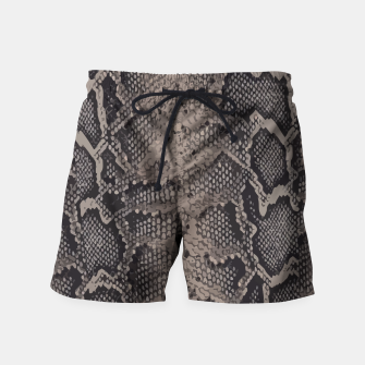 Thumbnail image of Python brown Swim Shorts, Live Heroes