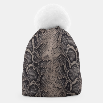 Thumbnail image of Python brown Beanie, Live Heroes
