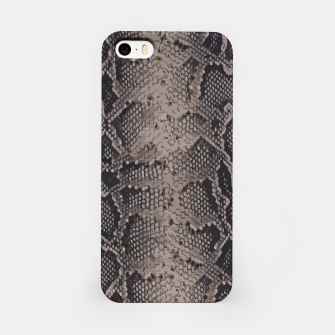Miniatur Python brown iPhone Case, Live Heroes