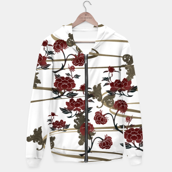 Thumbnail image of Japanesque peony and Baroque decoration Hoodie, Live Heroes