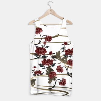 Miniatur Japanesque peony and Baroque decoration Tank Top, Live Heroes