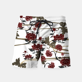 Thumbnail image of Japanesque peony and Baroque decoration Swim Shorts, Live Heroes