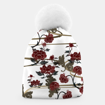 Thumbnail image of Japanesque peony and Baroque decoration Beanie, Live Heroes
