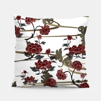 Thumbnail image of Japanesque peony and Baroque decoration Pillow, Live Heroes