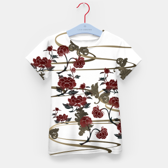 Miniatur Japanesque peony and Baroque decoration Kid's T-shirt, Live Heroes