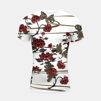 Miniaturka Japanesque peony and Baroque decoration Shortsleeve Rashguard, Live Heroes