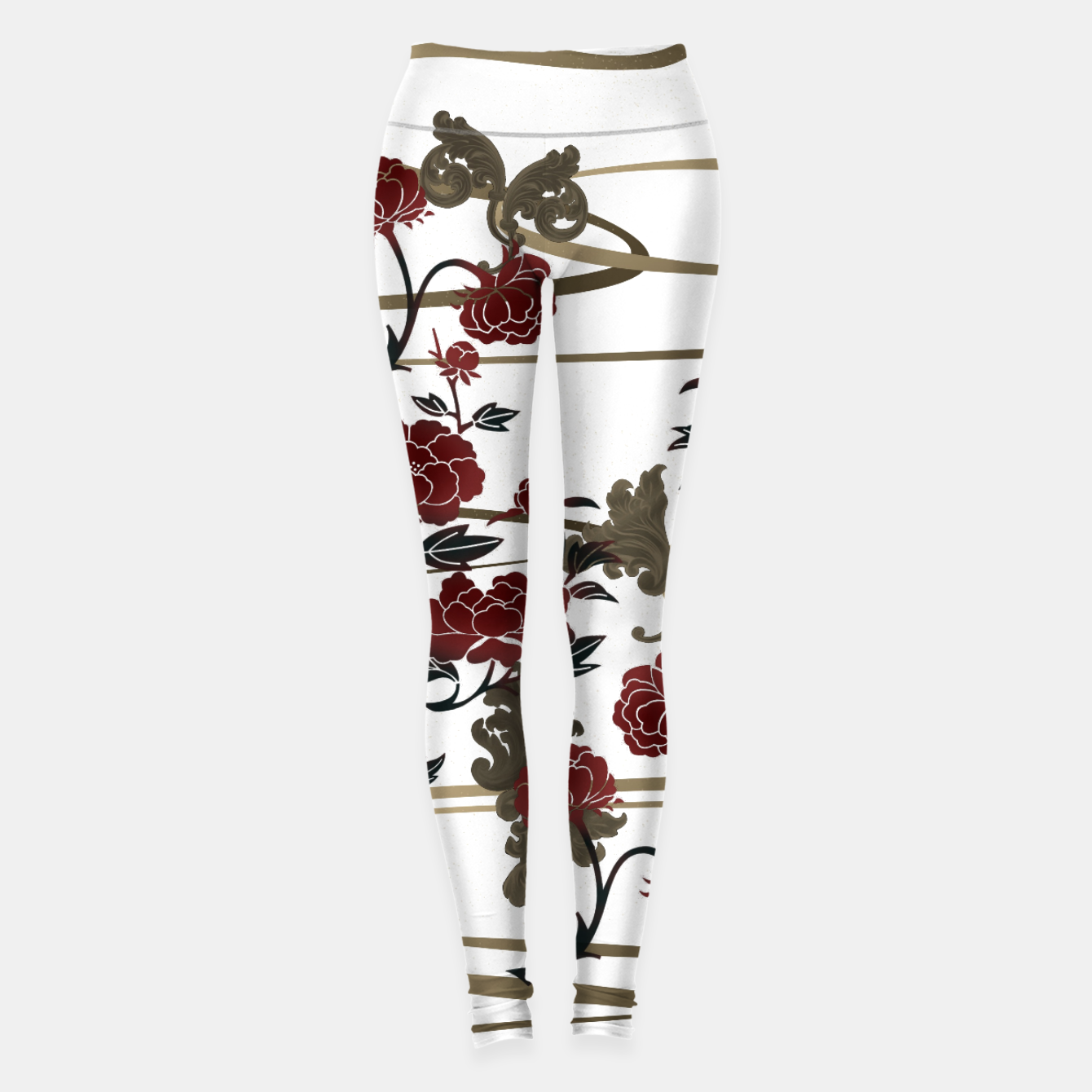 Zdjęcie Japanesque peony and Baroque decoration Leggings - Live Heroes