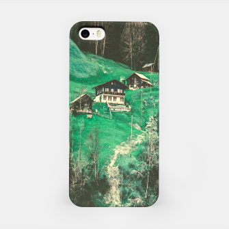 mountain huts iPhone Case obraz miniatury