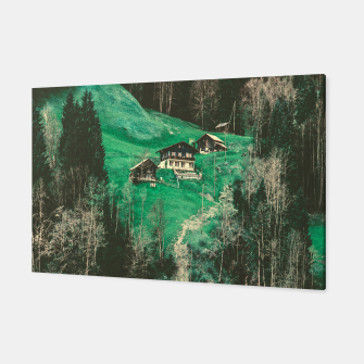 mountain huts Canvas obraz miniatury