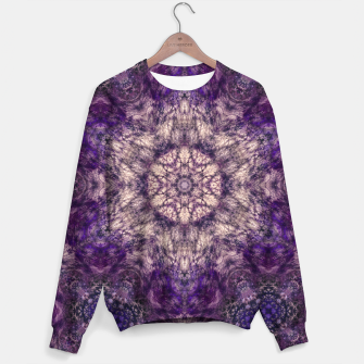 mandala violet and white Bluza miniature