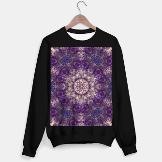 mandala violet and white Bluza standard miniature
