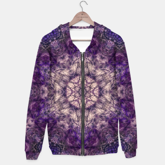 Thumbnail image of mandala violet and white Bluza z kapturem, Live Heroes