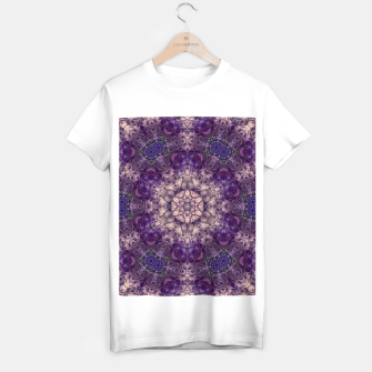 mandala violet and white Koszulka standard miniature