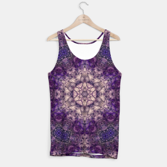 mandala violet and white Tank Top miniature