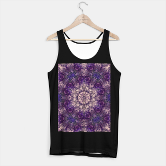 mandala violet and white Tank Top standard miniature