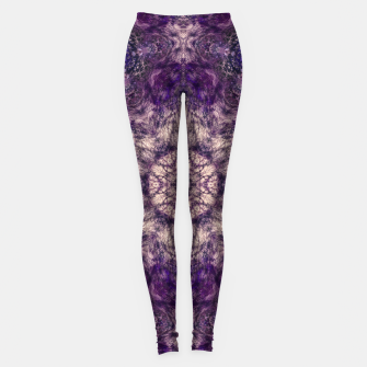 mandala violet and white Legginsy miniature
