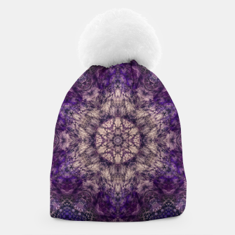 mandala violet and white Czapka miniature