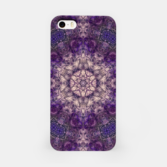 mandala violet and white Obudowa iPhone miniature