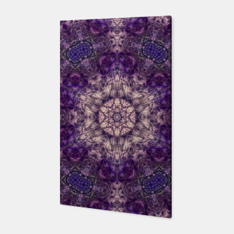 mandala violet and white Canvas miniature